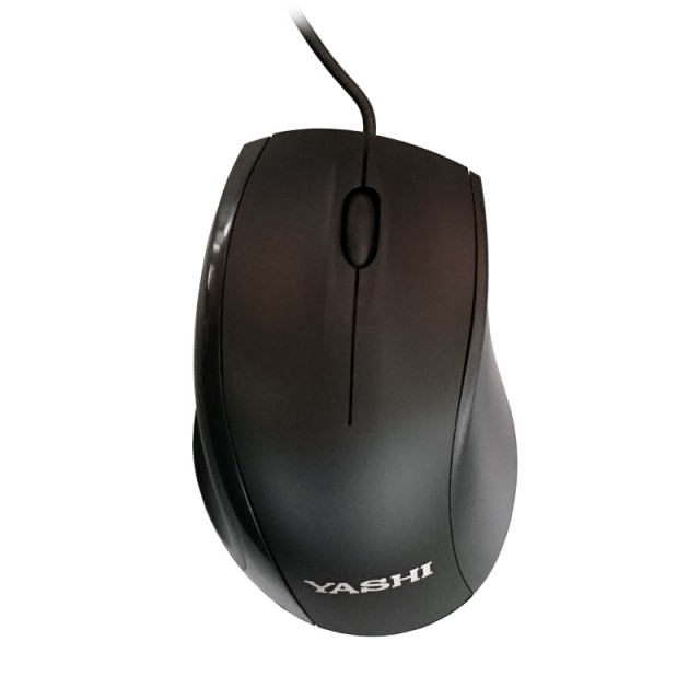 Product image YASHI Mouse Round Optical black USB