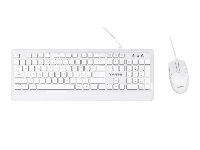 Immagine prodotto YASHI EXCLUSIVE USB KEYB+MOUSE WHITE